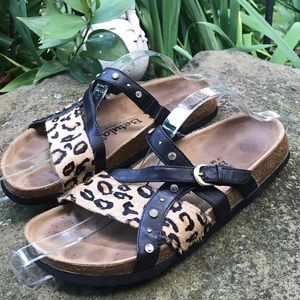 "Birkenstock Betula ""Julie"" animal print sandal"